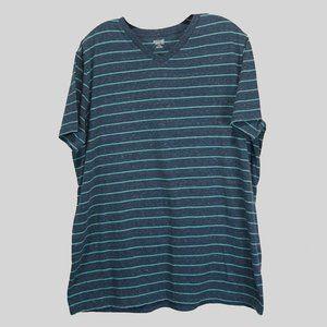 Mossimo striped SS blue tee shirt XL like new